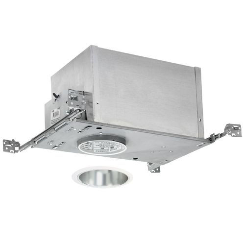 Juno Lighting Group 4-inch Low-Voltage Recessed Lighting Kit with Haze Trim IC44N/447HZ-WH