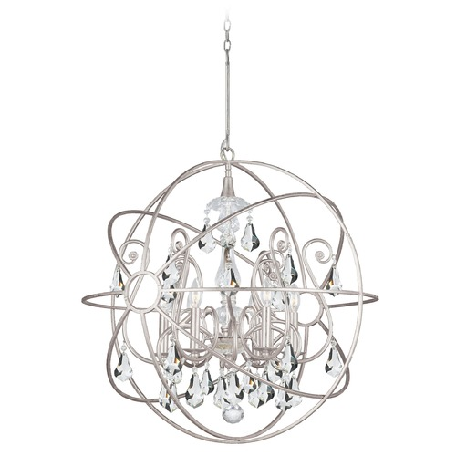 Crystorama Lighting Crystorama Lighting Solaris Olde Silver Pendant Light 9028-OS-CL-MWP