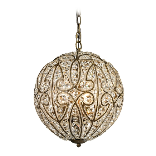Elk Lighting Pendant Light in Dark Bronze Finish 15974/5
