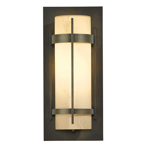 Hubbardton Forge Lighting Hubbardton Forge Lighting Banded Dark Smoke Outdoor Wall Light 305893-07-H34