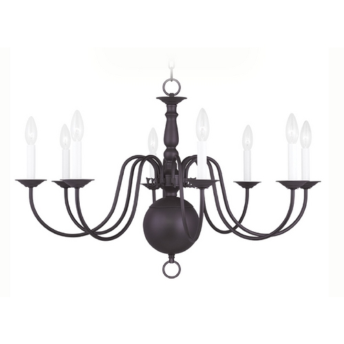 Livex Lighting Livex Lighting Williamsburg Bronze Chandelier 5007-07