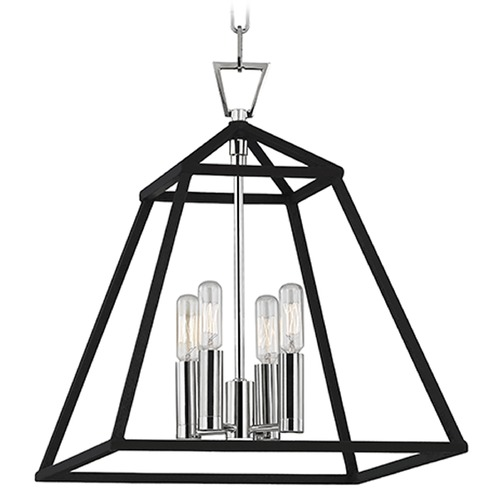 Hudson Valley Lighting Webster 4 Light Pendant Light - Polished Nickel 4914-PN
