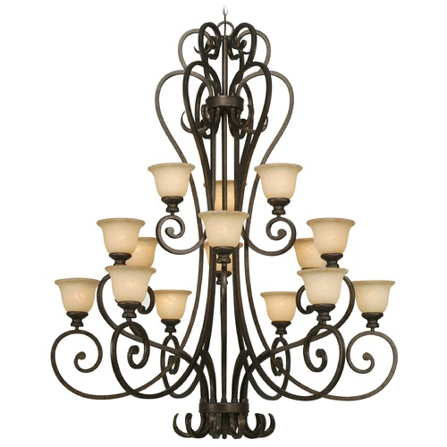 Golden Lighting Golden Lighting Heartwood Burnt Sienna Chandelier 8063-15L BUS