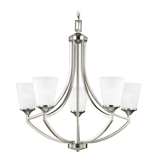 Sea Gull Lighting Sea Gull Hanford Brushed Nickel Chandelier 3124505-962