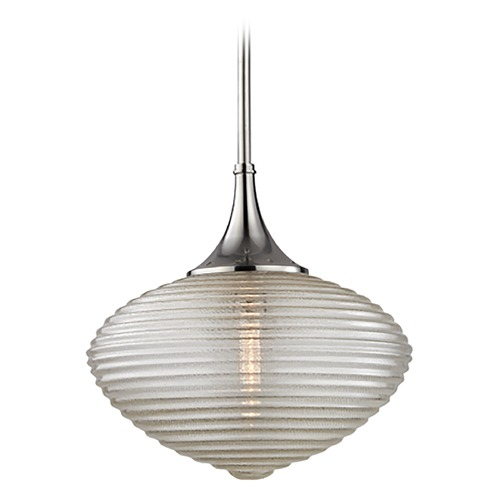 Hudson Valley Lighting Hudson Valley Lighting Knox Satin Nickel Pendant Light with Oblong Shade 1926-SN