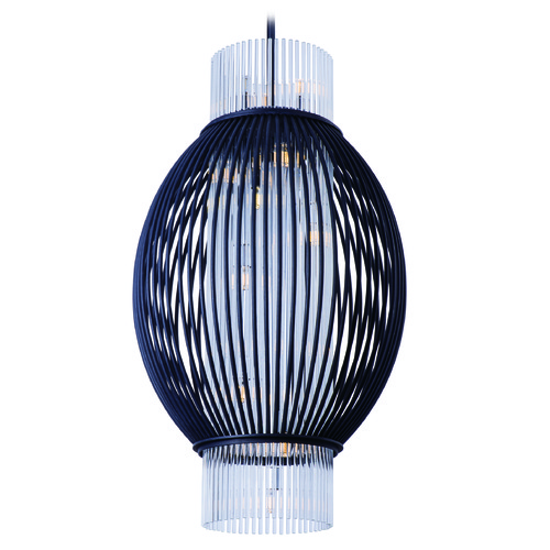 Maxim Lighting Maxim Lighting International Aviary Anthracite LED Pendant Light with Oval Shade 38384CLAR