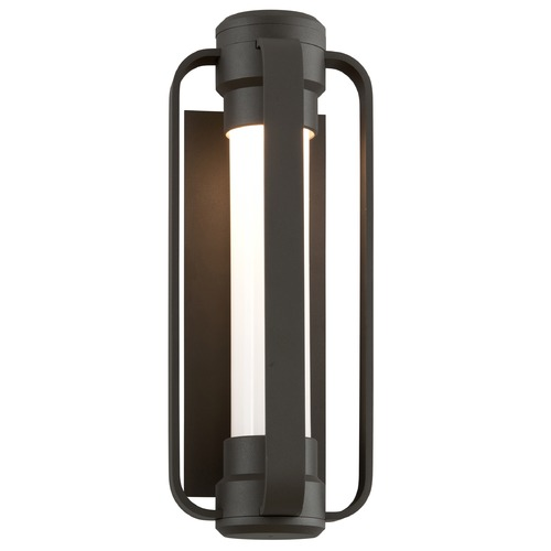 Troy Lighting Seeded Opal Glass LED Outdoor Wall Light Bronze Troy Lighting BL4931