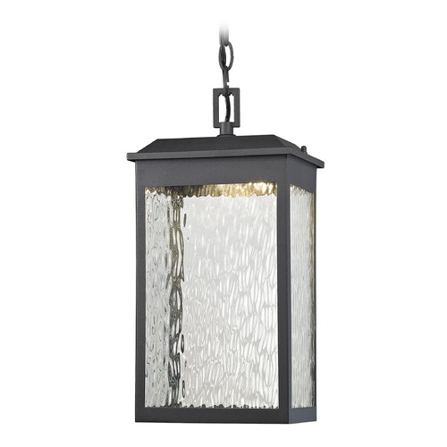 Elk Lighting Elk Lighting Newcastle Textured Matte Black LED Outdoor Hanging Light 45203/LED