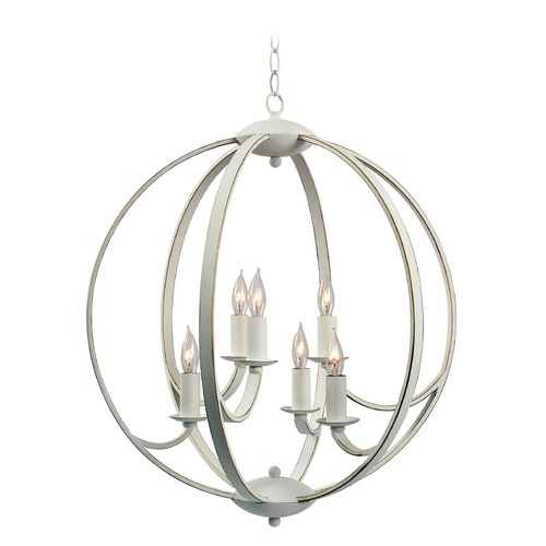 Kenroy Home Lighting Kenroy Home Opal Weathered White with Gold Mini-Chandelier 93926WH