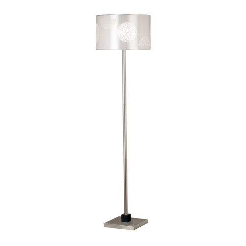 Kenroy Home Lighting Modern Floor Lamp in Brushed Steel Finish 20963BS