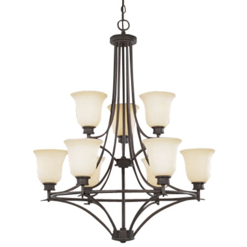 Designers Fountain Lighting Nine-Light Chandelier 96989-ORB
