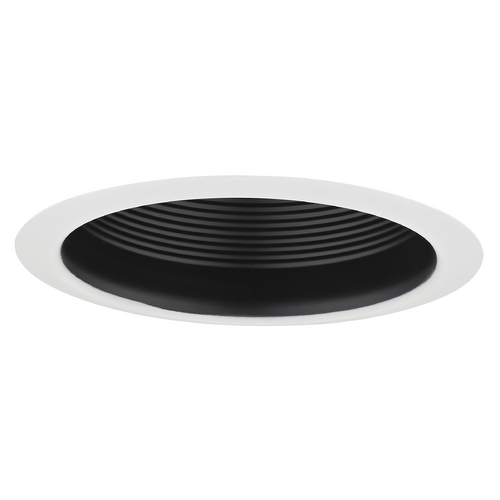 Recesso Lighting by Dolan Designs Air Tight Black Baffle Cone Trim for 5-Inch Recessed Housings T513B-WH