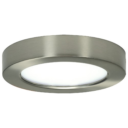 Design Classics Lighting 5-1/2-Inch Nickel Round LED Flushmount Ceiling Light - 2700K 8321-27-SN