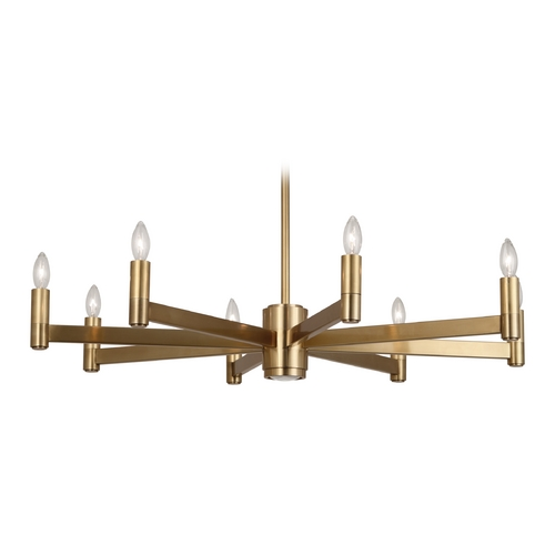 Robert Abbey Lighting Robert Abbey Delany 8-Light Chandelier in Antique Brass 4500
