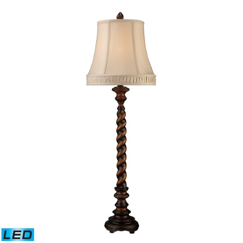Dimond Lighting Dimond Lighting Sienna Bronze Wood LED Table Lamp with Bell Shade D1758-LED