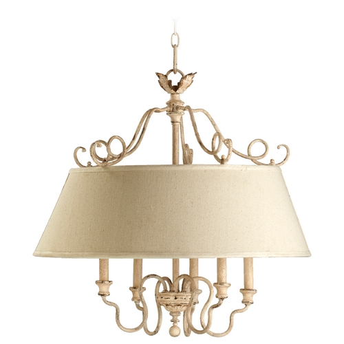 Quorum Lighting Quorum Lighting Salento Persian White Pendant Light with Empire Shade 6306-5-70