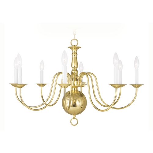 Livex Lighting Livex Lighting Williamsburg Polished Brass Chandelier 5007-02