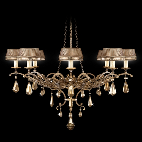 Fine Art Lamps Fine Art Lamps Golden Aura Aged Gold Patina Crystal Chandelier 755840ST