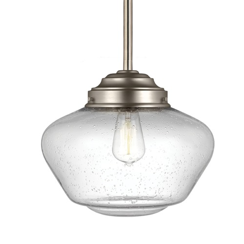Feiss Lighting Feiss Alcott Satin Nickel Pendant Light P1386SN
