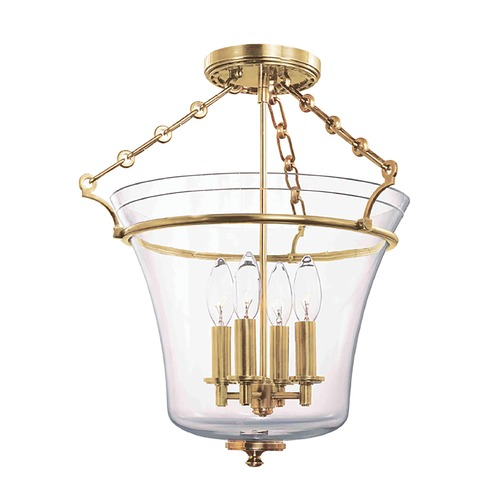 Hudson Valley Lighting Hudson Valley Lighting Eaton Aged Brass Semi-Flushmount Light 832-AGB