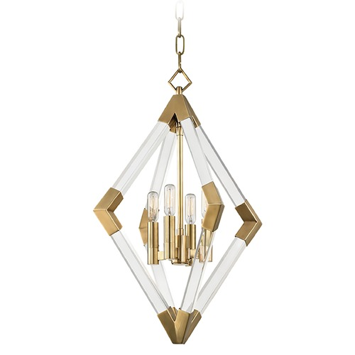 Hudson Valley Lighting Hudson Valley Lighting Lyons Aged Brass Pendant Light 4617-AGB