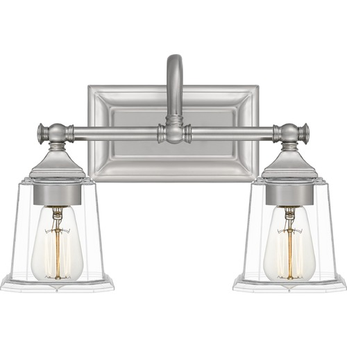 Quoizel Lighting Quoizel Lighting Nicholas Brushed Nickel Bathroom Light NLC8602BN