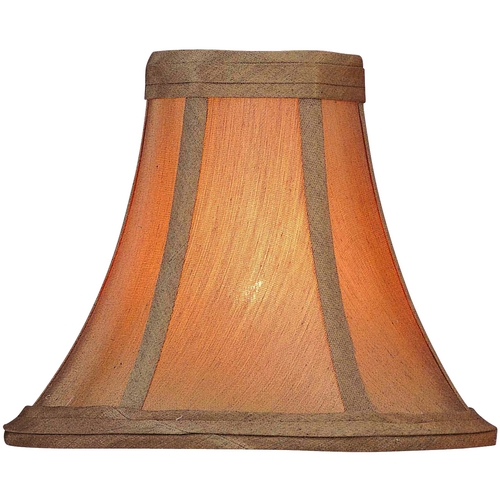 Lite Source Lighting Soft Glow Gold Bell Lamp Shade with Clip-On Assembly CH538-6