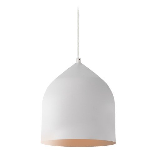 Kuzco Lighting Modern White and Copper LED Mini-Pendant 3000K 399LM PD9108-WH/CP