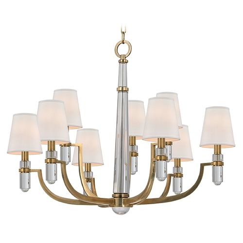 Hudson Valley Lighting Dayton 9 Light 2-Tier Chandelier - Aged Brass 989-AGB