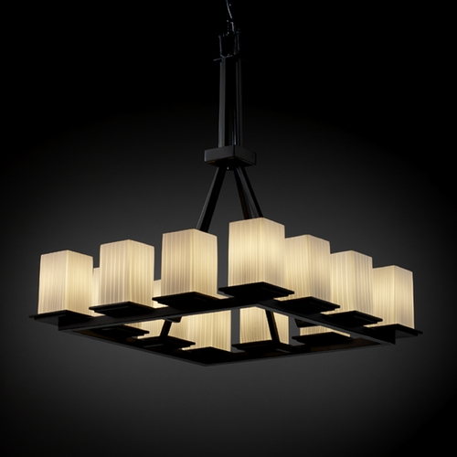 Justice Design Group Justice Design Group Fusion Collection Chandelier FSN-8663-15-RBON-MBLK