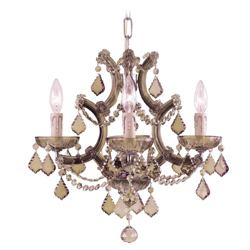 Crystorama Lighting Crystorama Lighting Maria Theresa Antique Brass Crystal Chandelier 4474-AB-GT-MWP