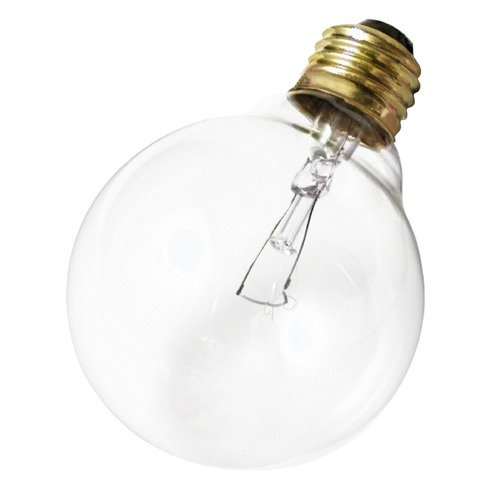 Satco Lighting Incandescent G25 Light Bulb Medium Base 120V by Satco S3448