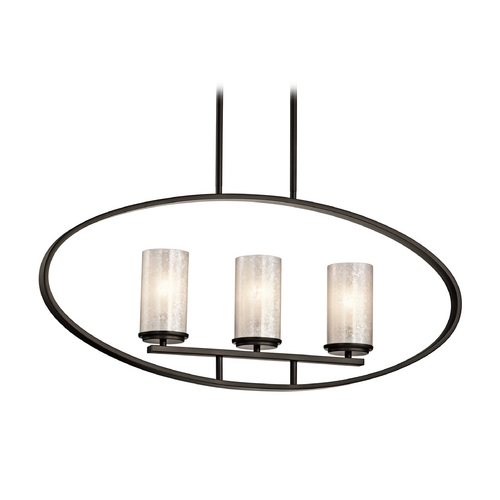 Kichler Lighting Kichler Lighting Berra Olde Bronze Island Light with Cylindrical Shade 43318OZ
