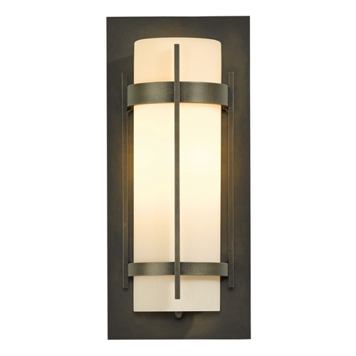 Hubbardton Forge Lighting Hubbardton Forge Lighting Banded Dark Smoke Outdoor Wall Light 305893-07-ZX34