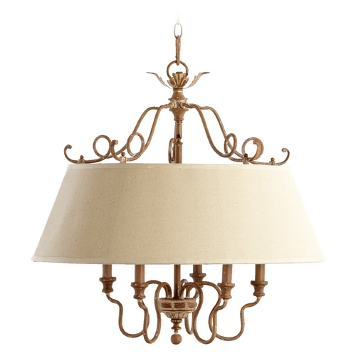 Quorum Lighting Quorum Lighting Salento French Umber Pendant Light with Empire Shade 6306-5-94