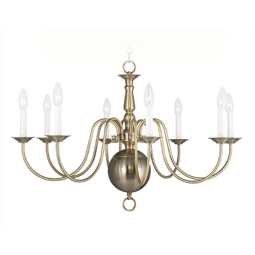 Livex Lighting Livex Lighting Williamsburg Antique Brass Chandelier 5007-01