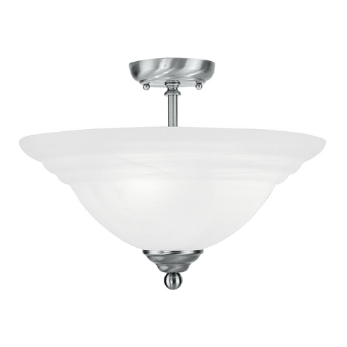 Livex Lighting Livex Lighting North Port Brushed Nickel Semi-Flushmount Light 4258-91