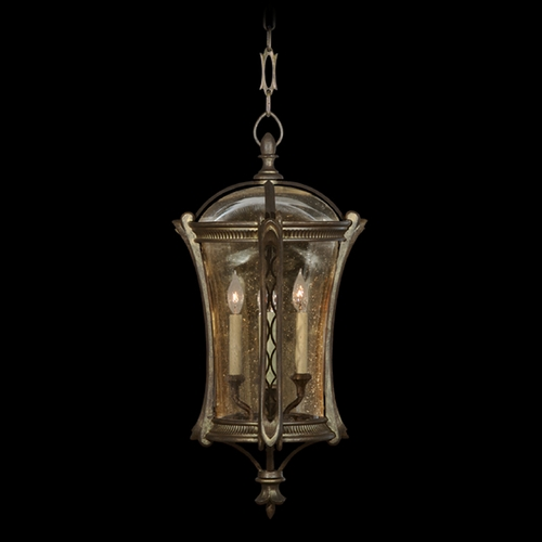 Fine Art Lamps Fine Art Lamps Gramercy Park Aged Antique Gold Outdoor Hanging Light 571882ST