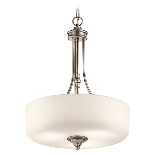 Kichler Lighting Kichler Lighting Lilah Pendant Light with Drum Shade 43653AP