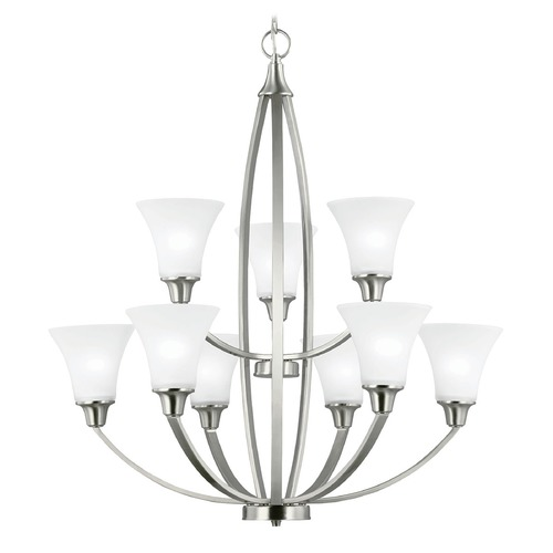 Sea Gull Lighting Sea Gull Lighting Metcalf Brushed Nickel Chandelier 3113209-962