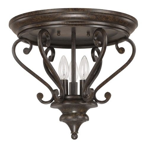 Capital Lighting Capital Lighting Maxwell Chesterfield Brown Semi-Flushmount Light 4533CB