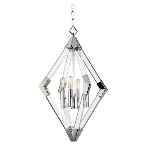 Hudson Valley Lighting Hudson Valley Lighting Lyons Polished Nickel Pendant Light 4617-PN