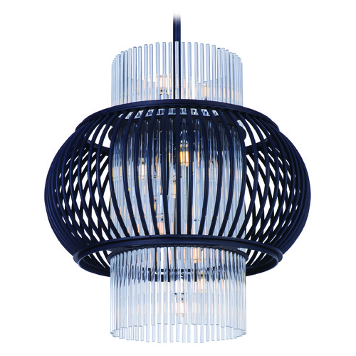 Maxim Lighting Maxim Lighting Aviary Anthracite LED Pendant Light with Oval Shade 38386CLAR