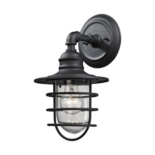 Elk Lighting Elk Lighting Vandon Textured Matte Black Outdoor Wall Light 45212/1