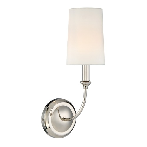 Crystorama Lighting Crystorama Lighting Sylvan Polished Nickel Sconce 2241-PN