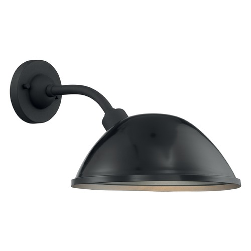 Satco Lighting Satco Lighting South Street Gloss Black / Silver Outdoor Wall Light 60/6904