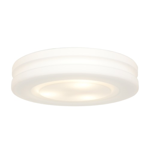 Access Lighting Modern Flushmount Light with White Glass in White Finish 50189-WH/OPL