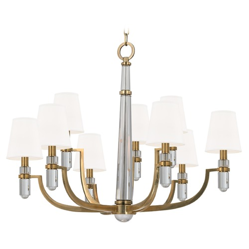 Hudson Valley Lighting Dayton 9 Light 2-Tier Chandelier - Aged Brass 989-AGB-WS