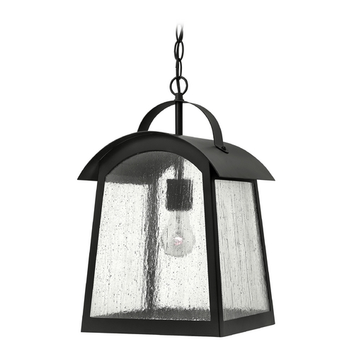 Hinkley Lighting Outdoor Hanging Light with White Glass in Black Finish 2652BK