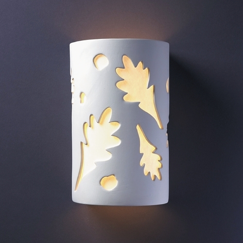 Justice Design Group Sconce Wall Light with White in Bisque Finish CER-5475-BIS